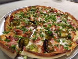 One of Za's Pizza's topped with our pickled jalapenos.